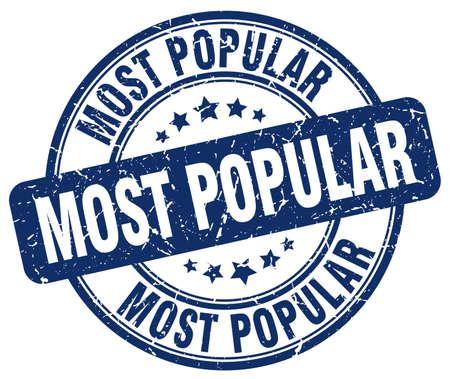 most popular: most popular blue grunge round vintage rubber stamp