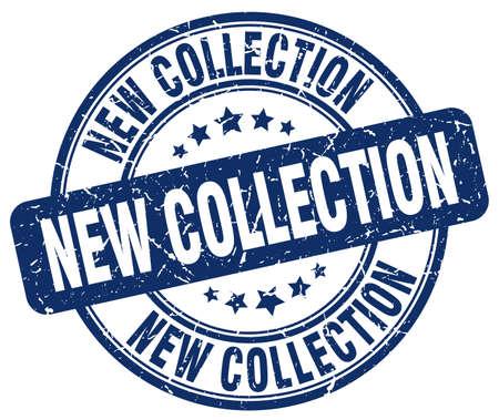 nueva colección grunge vintage azul redondo del sello de goma