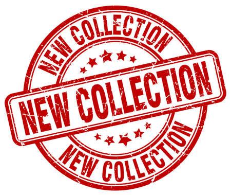 nueva colección grunge rojo de la vendimia redonda sello de goma