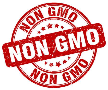 non: non gmo red grunge round vintage rubber stamp Illustration