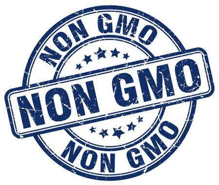 non: non gmo blue grunge round vintage rubber stamp