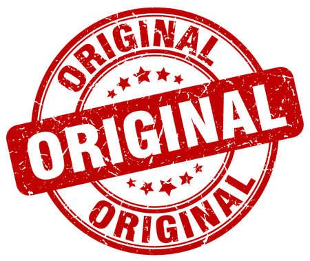 original: original red grunge round vintage rubber stamp