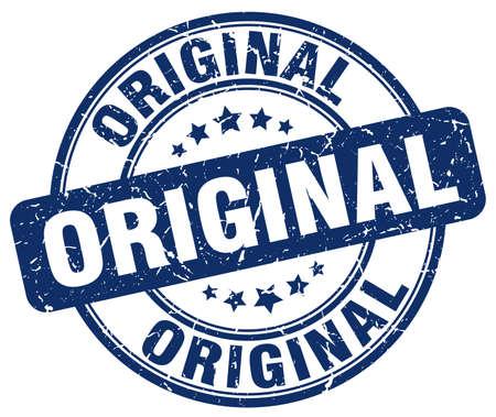 original: original blue grunge round vintage rubber stamp