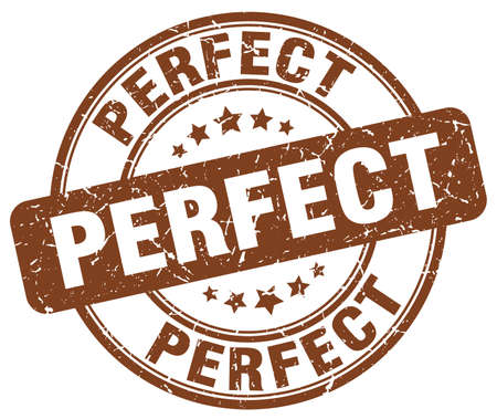 perfect: perfect brown grunge round vintage rubber stamp Illustration