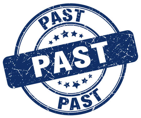 past: past blue grunge round vintage rubber stamp Illustration