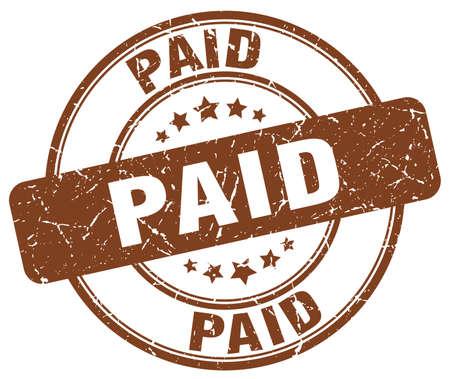 paid: paid brown grunge round vintage rubber stamp