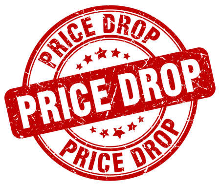 price drop red grunge round vintage rubber stamp Vektorové ilustrace