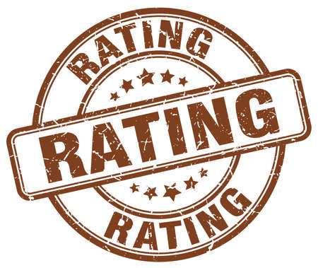 rating: rating brown grunge round vintage rubber stamp