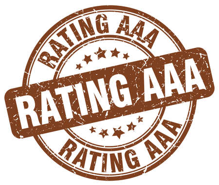 aaa: rating aaa brown grunge round vintage rubber stamp