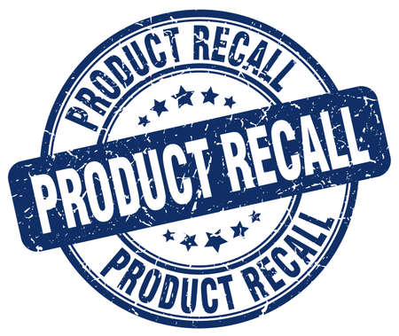 recall: product recall blue grunge round vintage rubber stamp