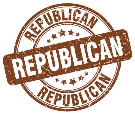 democrats: republican brown grunge round vintage rubber stamp