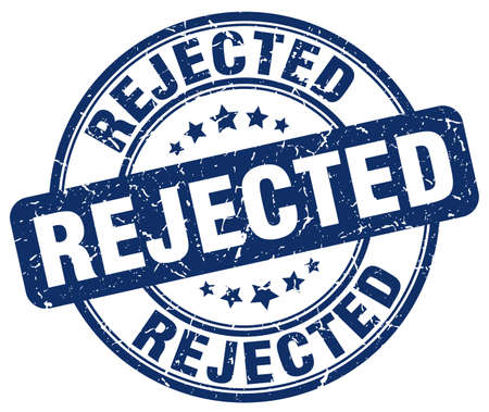 rejected: rejected blue grunge round vintage rubber stamp