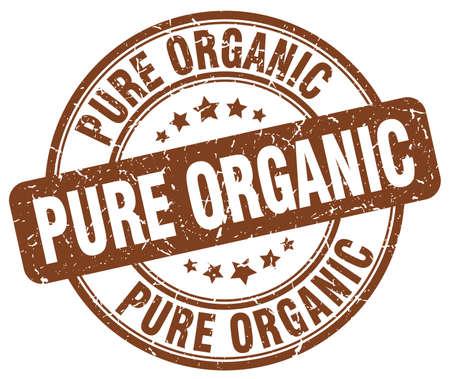 pure: pure organic brown grunge round vintage rubber stamp