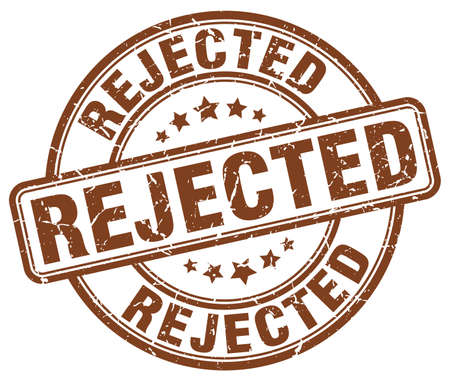 rejected: rejected brown grunge round vintage rubber stamp
