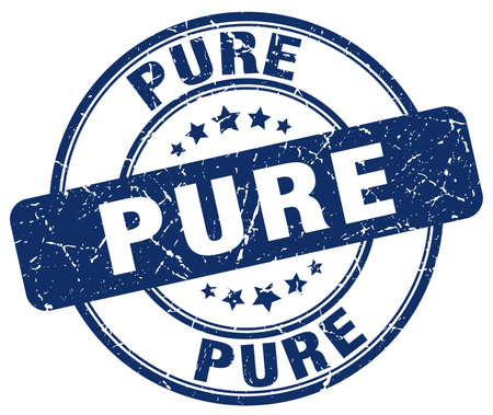 pure: pure blue grunge round vintage rubber stamp