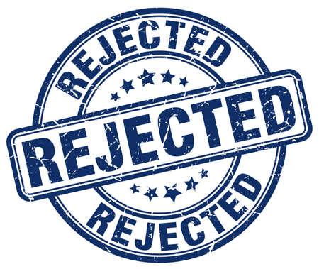 rejected: rejected blue grunge round vintage rubber stamp