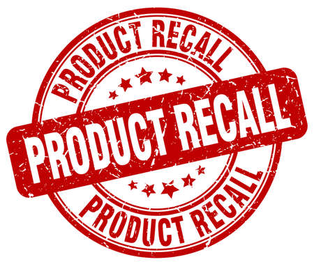 recall: product recall red grunge round vintage rubber stamp Illustration
