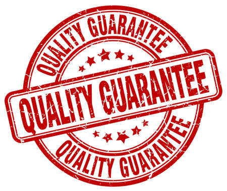 quality guarantee: quality guarantee red grunge round vintage rubber stamp