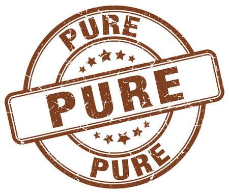 pure: pure brown grunge round vintage rubber stamp