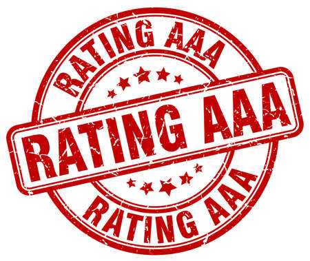 rating: rating aaa red grunge round vintage rubber stamp Illustration