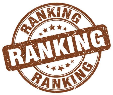 ranking: ranking brown grunge round vintage rubber stamp