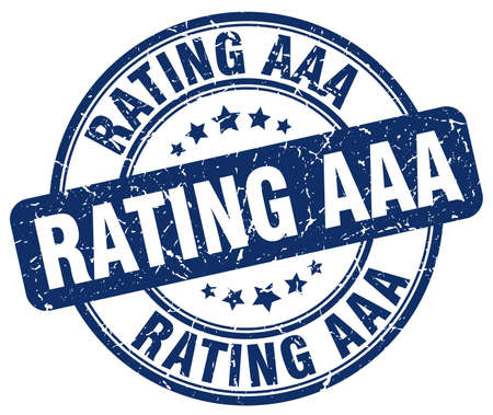 aaa: rating aaa blue grunge round vintage rubber stamp