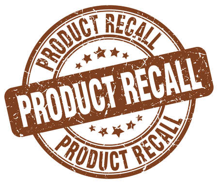 recall: product recall brown grunge round vintage rubber stamp