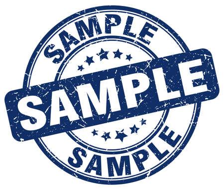 sample: sample blue grunge round vintage rubber stamp Illustration