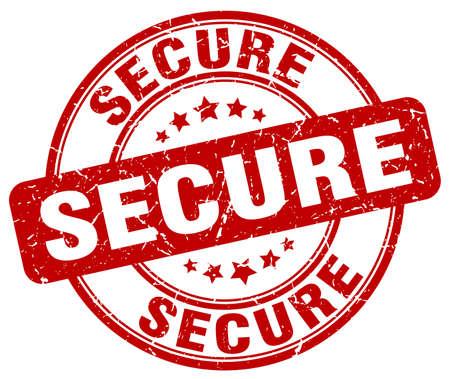 secure: secure red grunge round vintage rubber stamp Illustration