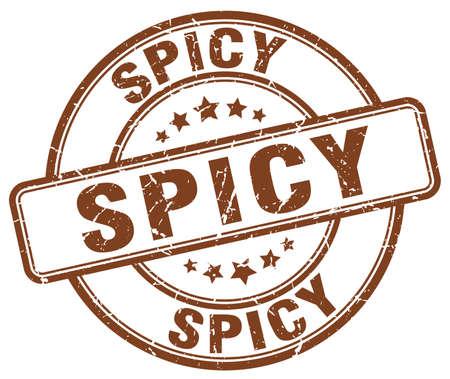 spicy: spicy brown grunge round vintage rubber stamp