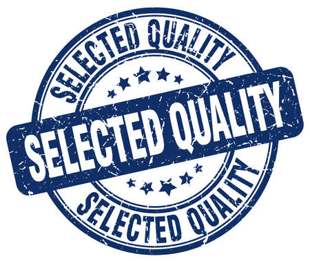 selected: selected quality blue grunge round vintage rubber stamp