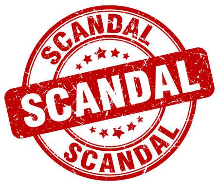 scandal: scandal red grunge round vintage rubber stamp