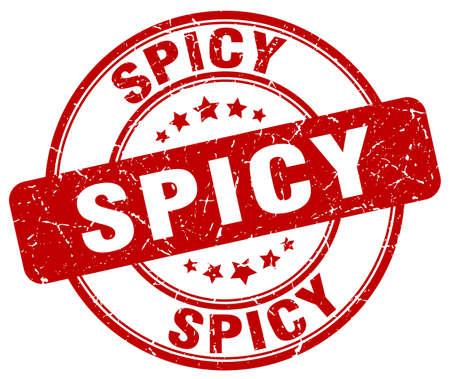 spicy: spicy red grunge round vintage rubber stamp
