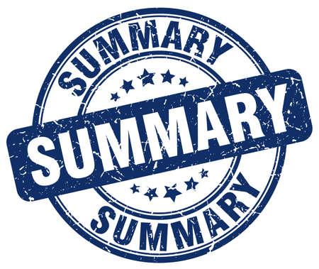 summary: summary blue grunge round vintage rubber stamp Illustration