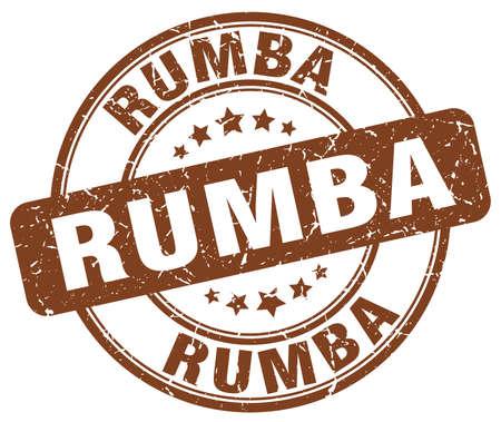 rumba: rumba brown grunge round vintage rubber stamp Illustration