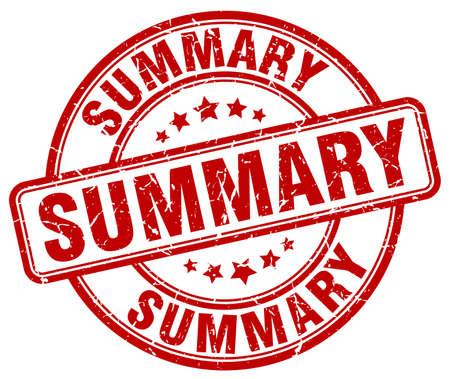 summary: summary red grunge round vintage rubber stamp