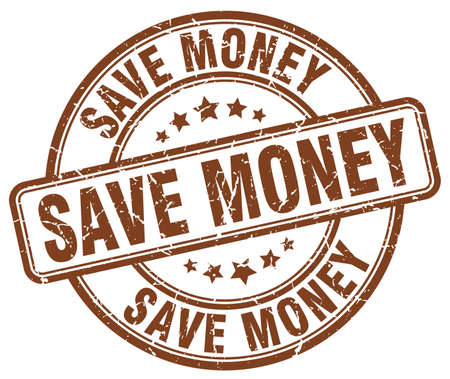 save money: save money brown grunge round vintage rubber stamp