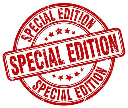 special edition red grunge round vintage rubber stamp Illustration