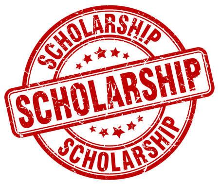 scholarship: scholarship red grunge round vintage rubber stamp Illustration