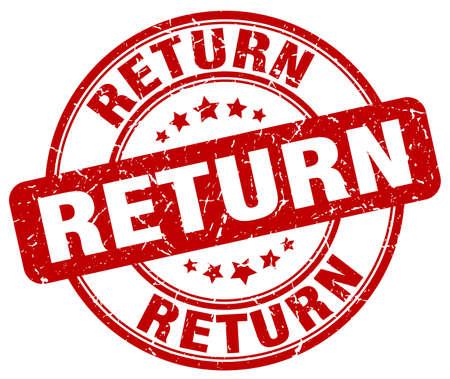 return red grunge round vintage rubber stamp Illustration