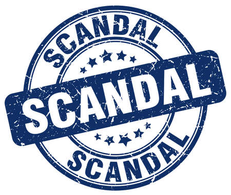 scandal: scandal blue grunge round vintage rubber stamp Illustration