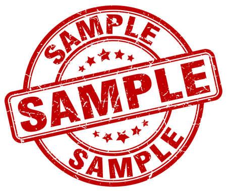 sample red grunge round vintage rubber stamp 일러스트