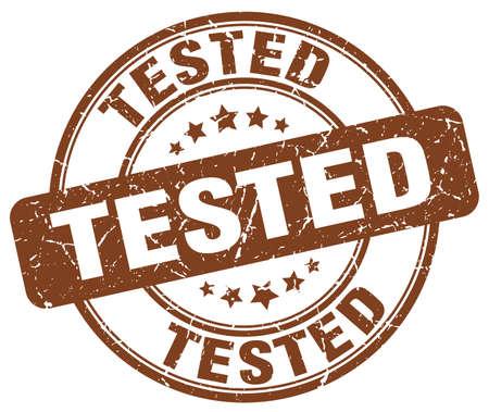 tested: tested brown grunge round vintage rubber stamp Illustration