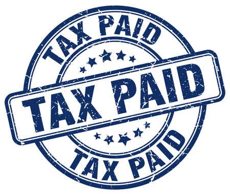 paid: tax paid blue grunge round vintage rubber stamp