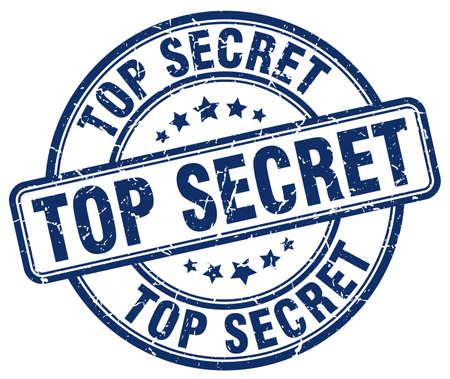 top secret: top secret blue grunge round vintage rubber stamp