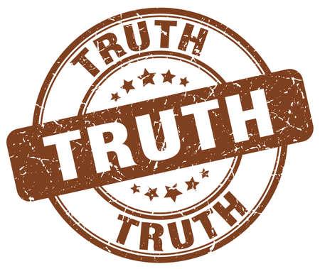 the truth: truth brown grunge round vintage rubber stamp Illustration