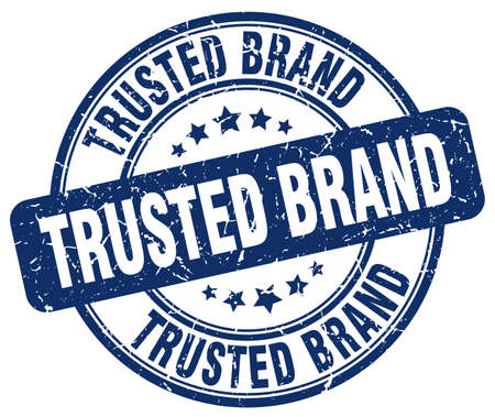 trusted: trusted brand blue grunge round vintage rubber stamp Illustration