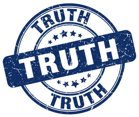 the truth: truth blue grunge round vintage rubber stamp