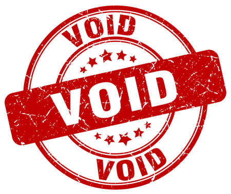 void: void red grunge round vintage rubber stamp