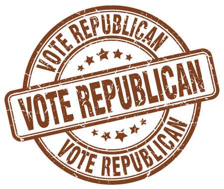 republican: vote republican brown grunge round vintage rubber stamp Illustration